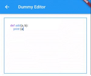 Flutter Code Editor