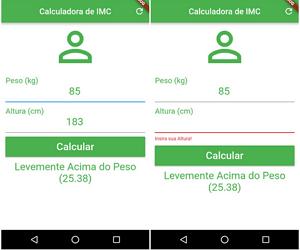 Flutter IMC Simple Calculator