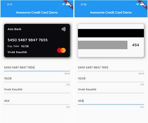 Flutter Credit Card Widget