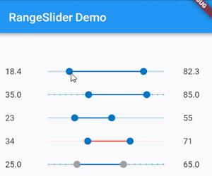 Flutter Range Slider Widget