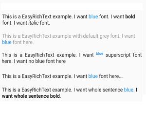 Flutter Multiple Text Size