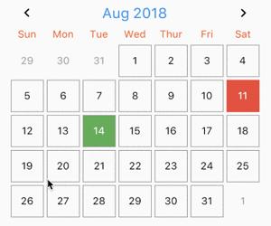 Flutter Swipeable Calendar