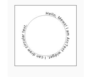 Flutter Arc Text Widget