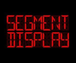 Flutter Segment Display Widget