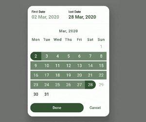 Flutter Calendar Range Support
